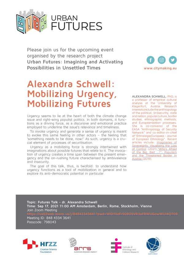 2nd URBAN FUTURES talk: dr. Alexandra Schwell